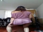 Bailando nena del servicio en Cam peruanita ardiente