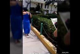 Siguiendo a Sra con tanga en Chiclayo
