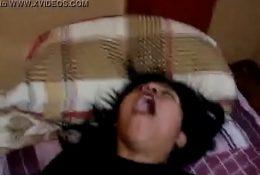 alexandra peruana de lima cachando y recibiendo leche en la cara y las tetas